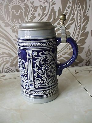 Vintage Retro Ceramic German Beer Stein  17cm Tall