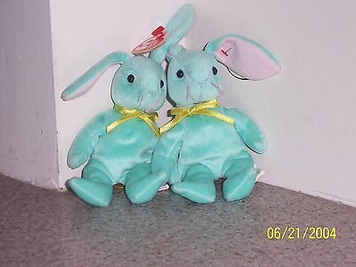 HIPPITY (2) BASKET BEANIES Ty Beanie Baby MINT WITH MINT TAGS