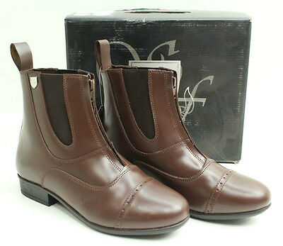 NEW Sherwood Forest Lambeth Adult Zip Front Jodhpur Brown Boots - Free P&P