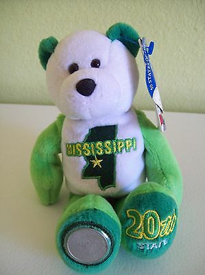 "Limited Treasures Coin Bear State of Mississippi 8"" Plush with Quarter"