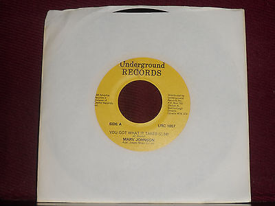 "MARV JOHNSON ""You Got What It Takes"" Underground URC 1057 Canada Press!"