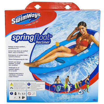 SwimWays Spring Float Recliner swimming pool lounger - colours may vary 6038047