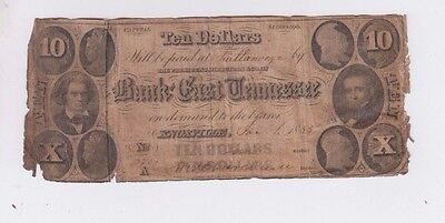 Obsolete Currency Tennessee one old notes low grade