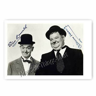 Stan Laurel and Oliver Hardy / Dick und Doof - Autogrammfotokarte [A2] 