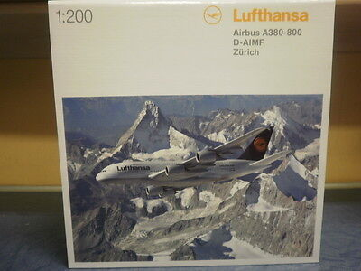 Herpa Wings 1:200 Lufthansa Airbus A380-800 Zürich 550727-003
