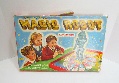 THE AMAZING MAGIC ROBOT GAME by MERIT ENGLAND VINTAGE c. 1950's FIGURAL ROBOT