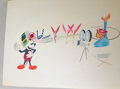 WALT DISNEY Animator Original Drawing Mickey Mouse Hollywood Director Disneyana