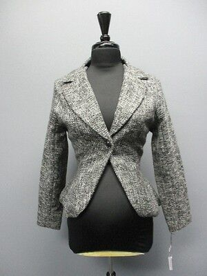 ZULA MATERNITY Black Long Sleeve Lined Maternity Blazer Sample NWT Sz S CC6302