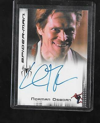 Spider-Man 3 Movie autograph card Willem Dafoe - Norman Osborn