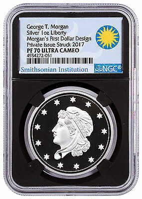 (2017) Smithsonian Morgan First Silver Dollar 1 oz Silver NGC PF70 Blk SKU47351