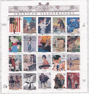 US SC 2286-2335, 1953-1972, 3068A-T 3502, 2216-2219 - Used Complete Sheets~