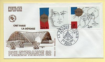FDC n° 2141/2142 – PHILEXFRANCE 82 – CNIT PARIS LA DEFENSE - 75 Paris 23/05/1981
