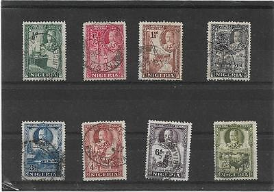 Nigeria 1936 King George V Pictorial Short Set To 1/-. Sg.34-41 Nice Used