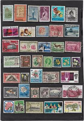 British Commonwealth Queen Victoria Onwards Used Mixture Collection