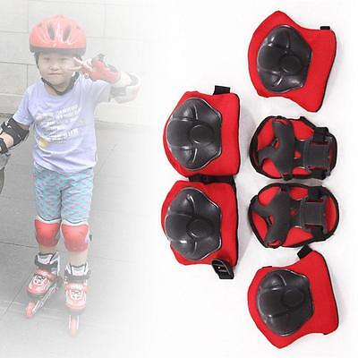 New Kid 6pcs Skating Protective Gear Children Knee Elbow Pads Set Black & Red SN