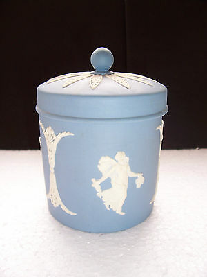 Wedgwood Blue jasperware   Candy Jar in excellent condition .