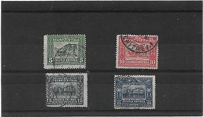 ERITREA 1910 PLOUGHING & GOVERNMENT PALACE,MASSAWA SET {5,10,15,25c} NICE USED
