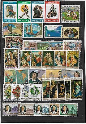 Cook Island Useful Qe2 Collection With Several Sets  Mounted Mint Condition