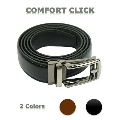 Comfort Click Belt for Men Black or Brown Adjustable Fashion Belt