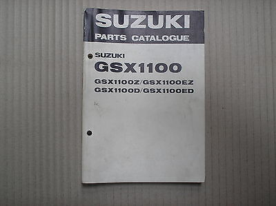 Suzuki GSX 1100 GSX1100 Z EZ D ED genuine parts catalogue USED