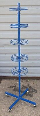 """Store Display Fixtures ROLLING SPINNER RACK 5 LEVELS 63"""" tall"""