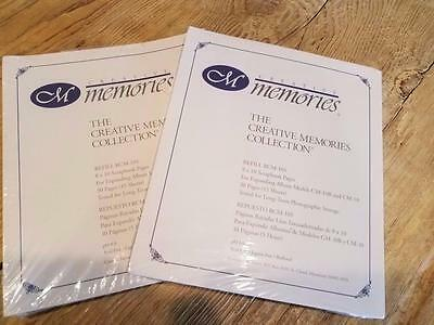 CREATIVE MEMORIES 8x10 Page Refills 30 sheets / 60 pages NIP