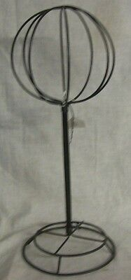"""Store Display Fixtures NEW METAL HAT OR WIG STAND 16"""" tall"""