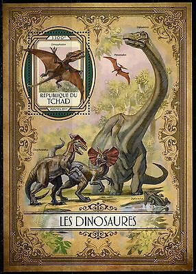 Chad 2017  Dinosaurs   Souvenir Sheet Mint Nh