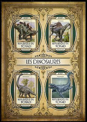 Chad 2017  Dinosaurs Sheet Mint Nh