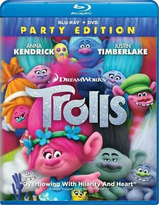 Trolls (Blu-ray Disc, 2017, 2-Disc Set, Includes Digital Copy) NEW