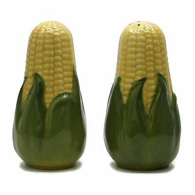 Vintage Shawnee Ohio Pottery King Corn Large Range Top Salt & Pepper Shakers 5.5