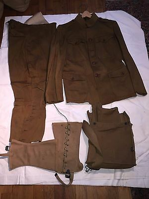 Original Authentic World War 1 I Us Uniform Pants Jacket Bag Boot Covers Rare!