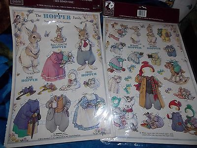 Kathy Lawrence The Hopper Bunny Rabbit Family Paper Doll And Clothes Set NIP