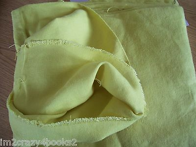 """Vintage Yellow Linen Fabric 48"""" Wide x 172"""" Long  4.77 Yards Garments Sewing"""