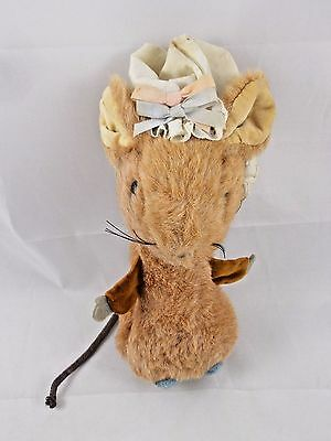 Vintage Eden Mouse Plush w/ Bonnet 8""