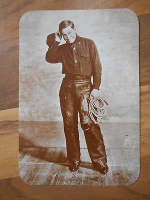 Old Vintage Postcard Will Rogers Old West Collectors Series Kustom El Paso Texas