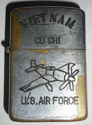 US AIR FORCE - RECON - CU CHI - Vietnam War - 1937, ORIGINAL ZIPPO LIGHTER, 8409
