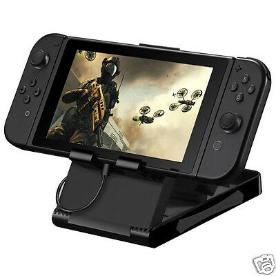 Black Charging Play stand Mount Base for Nintendo Switch NS Console