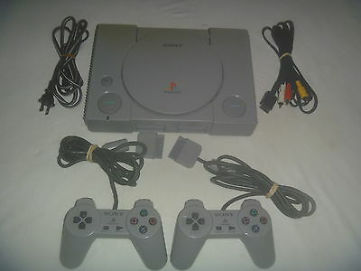 Original Sony Playstation 1 PS1 System Console Gray Great Condition SCPH-5501