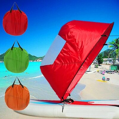 46'' Foldable Downwind Wind Paddle Popup Board For Canoe Kayak Sail Accessories