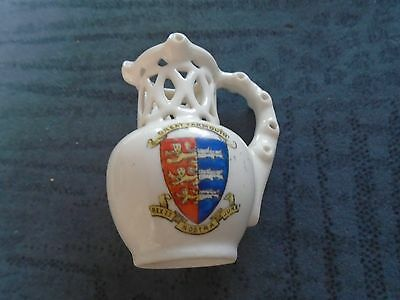 Gemma crested china Puzzle Jug Great Yarmouth Rex Et Nostra Jura