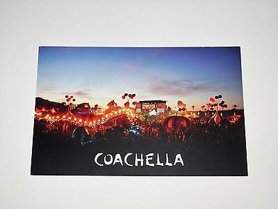 "Coachella 2010 Music Festival 9"" x 6"" Dbl Sided Promo Lobby Card Jay-Z Muse NEW"