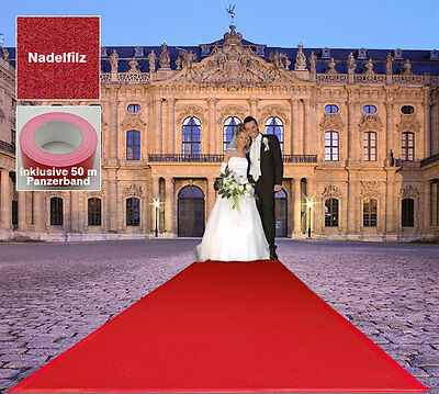 Event Hochzeits Roter Teppich B1  VIP 100x1600 cm rot Lager 1