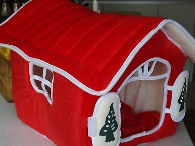 Pet House Christmas theme Polar fleece winter small dog - cat ?? Lovely Cute