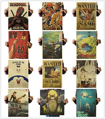 Classic One Piece Poster Strong World Anime Art Wall Decor Kraft Paper Posters