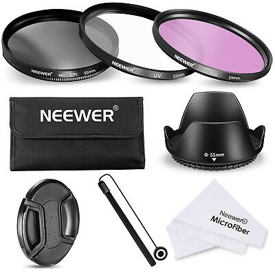 Neewer 55MM Lens Filter Accessory Kit for Sony Alpha Cameras with 55MM Lens