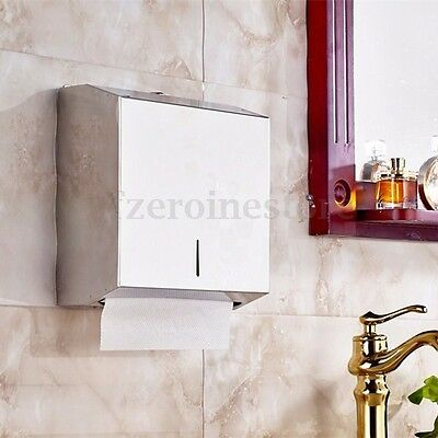 Duty Stainless Steel Compact Hand Paper Towel Dispenser Holder Toilet With Lock