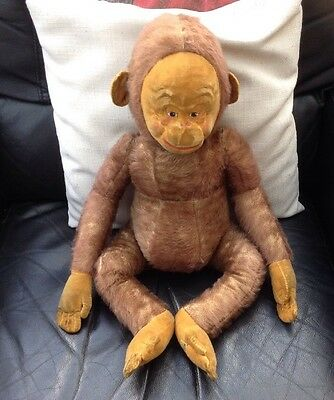 Large 1930's Vintage Lawson Wood Gran'Pops Merrythought Mohair Monkey