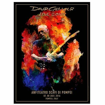 David Gilmour -Pink Floyd Pompeii Poster Size Lithograph Authentic/original /700