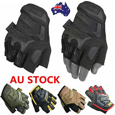 Men Tactical Work Gloves Athletic Half Finger Military Army Climbing Fingerless